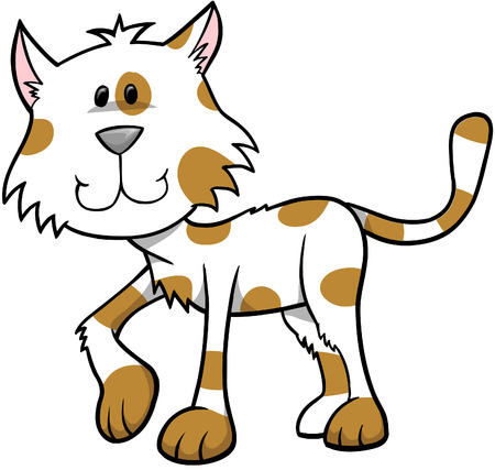 spotted: Spotted Cat Vector Illustration