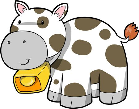 Cute Cow Vector Illustration Stock Vector - 1779107