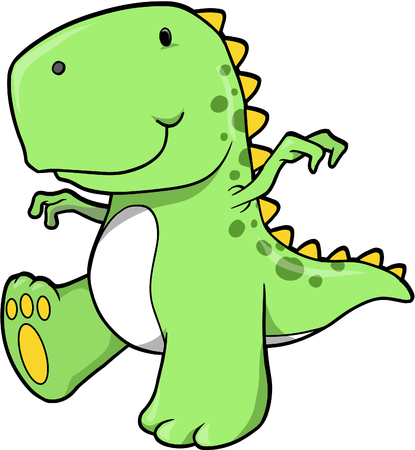 dinosaur cute: T-rex Dinosaur Vector Illustration