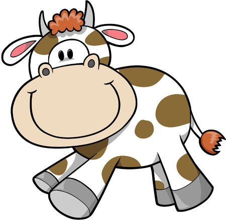 vaca caricatura: Vaca ilustraci�n vectorial  Vectores