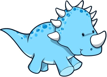 cute dinosaur: Blue dinosaurio ilustraci�n vectorial