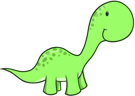 녹색 공룡 벡터 일러스트 레이션