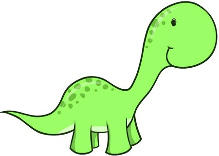 Green Dinosaur Vector Illustration Stock Vector - 1799769