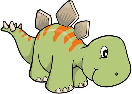 stegosaurus 공룡 벡터 일러스트 레이션 일러스트