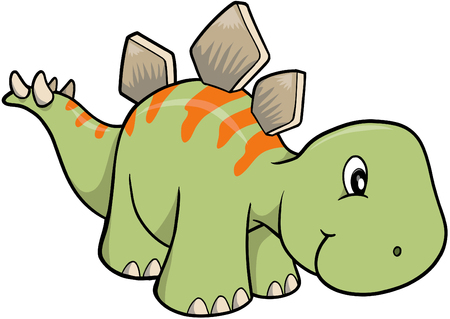 extinction: stegosaurus Dinosaur Vector Illustration Illustration