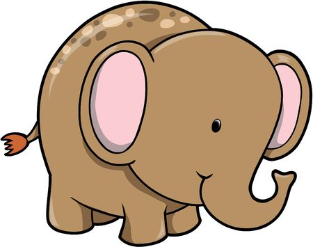 wildlife: Elephant Vector Illustration Illustration
