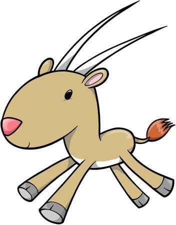 Antelope Vector Illustration Иллюстрация