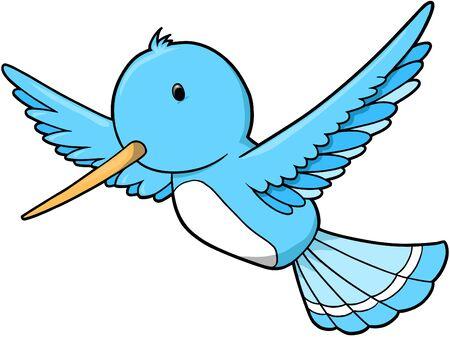 Humming Bird Vector Illustration Illustration