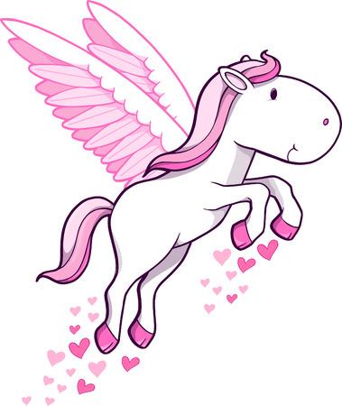 with illustration: Pegasus Vector Illustration