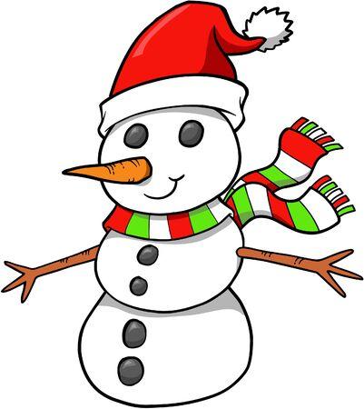 Christmas Snowman vectorillustratie Stock Illustratie