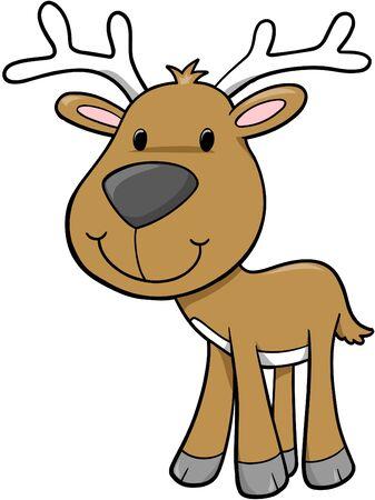 Kerst vakantie hert vector illustratie Stock Illustratie