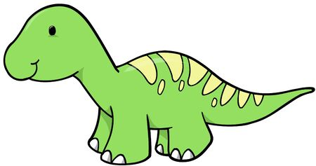 Green Dinosaur Vector Illustration Stock Vector - 1978277