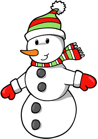 Christmas Holiday Snowman Vector Illustration Stock Vector - 1978280