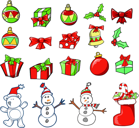 Christmas Holiday Set Vector Illustration Stock Vector - 1999268