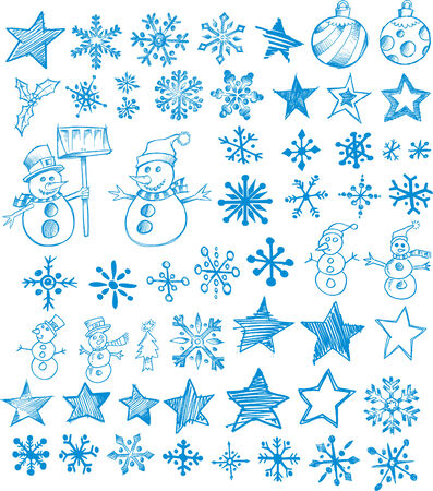 Sketchy Christmas Holiday Set Vector Illustration Stock Vector - 2006199