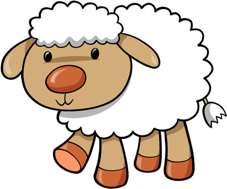 Sheep Vector Illustration Ilustração