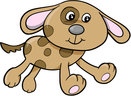 spotted dog: Dog Vector Illustration