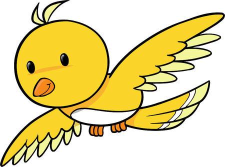 Cute Bird Vector Illustration Stock Vector - 2019435