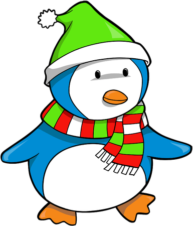 Christmas Holiday Penguin Vector Illustration Stock Vector - 2019485