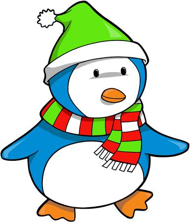 Christmas Holiday Penguin Vector Illustration Stock Vector - 2019485