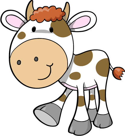 Cow Vector Illustration Stock Vector - 2019453