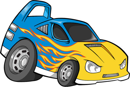 hotrod: Car Vector Illustration