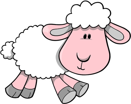 domesticated: Lamb Vector Illustration Illustration