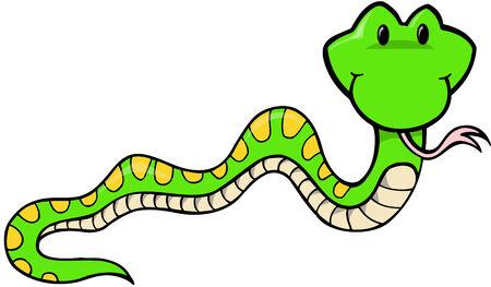 Snake Vector Illustratie: Stockfoto - 2056011