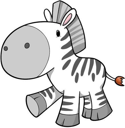 with illustration: Zebra Vector Illustration