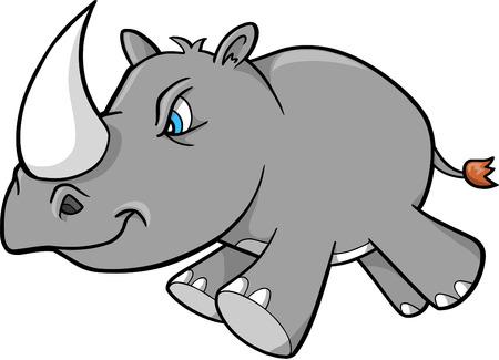 Rhino ilustración vectorial  Ilustración de vector