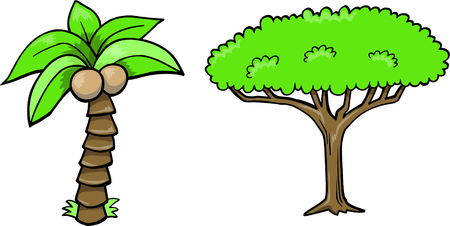 Tree Set Vector Illustration Ilustracja