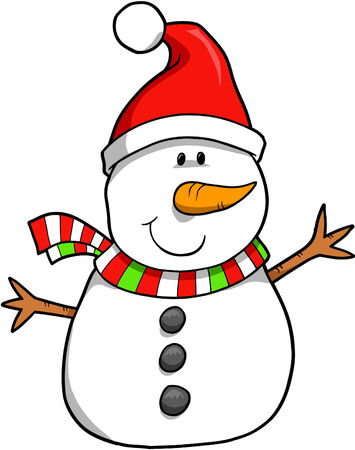 Christmas Holiday Snowman Vector Illustration Stock Vector - 2065996