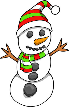 Christmas Holiday Snowman Vector Illustration Stock Vector - 2065999