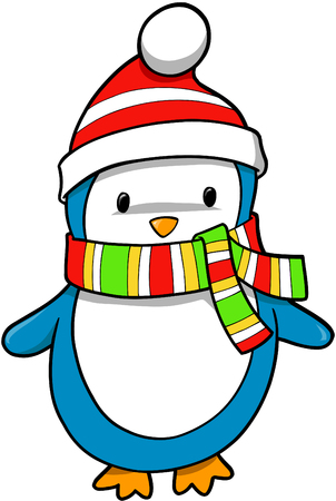 Christmas Holiday Penguin Vector Illustration Stock Vector - 2065993