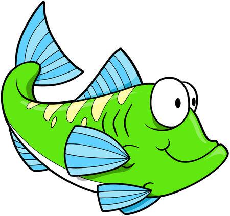greenfish: Green Fish Vector Illustration Illustration