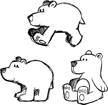 tundra: Sketchy Polar Bear Vector Illustration