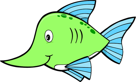 Cute_Sword_Fish_Vector イラスト