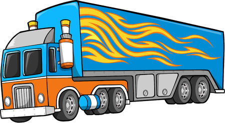 haul: Big Truck Vector Illustration