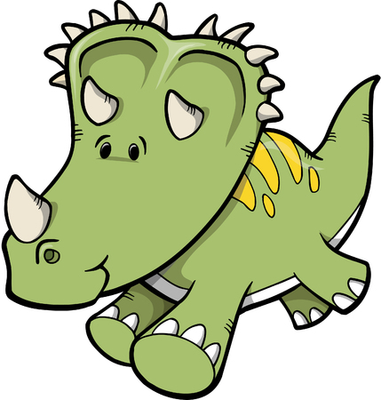 extinction: Triceratops Dinosaur Vector Illustration