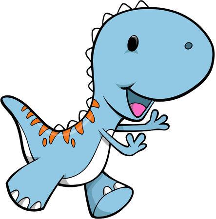 Tyrannosaurus Dinosaur Vector illustratie