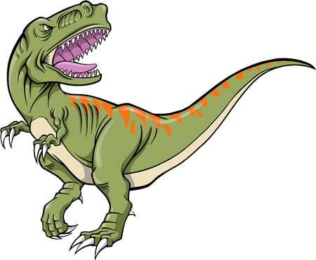 Tyrannosaurus Dinosaur Vector Illustration Illustration