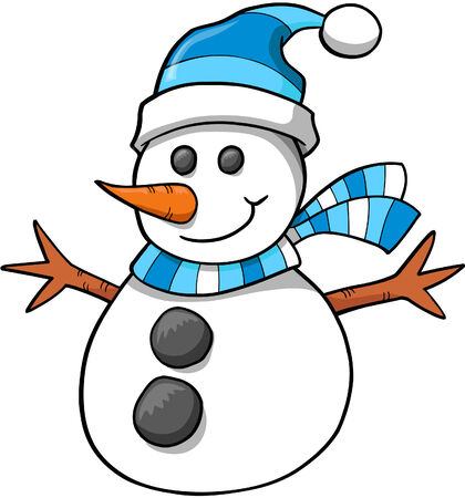 holiday: Christmas Holiday Snowman Vector Illustration Illustration