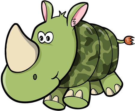 Camo Rhino ilustración vectorial