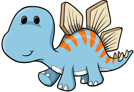 stegosaurus: Dinosaur ilustraci�n vectorial