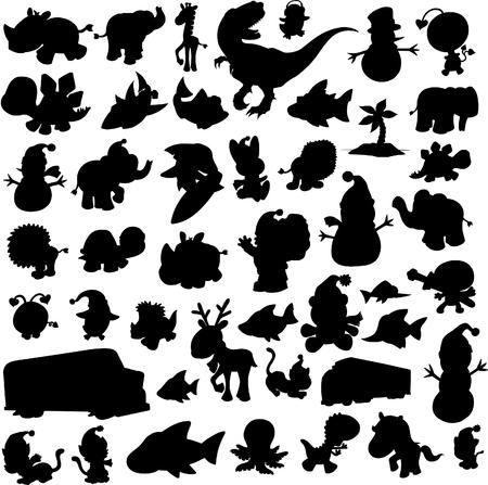 silouettes: Vector Illustration Silouettes