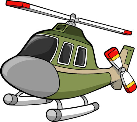 helicopters: Army Helicopter Vector Illustration