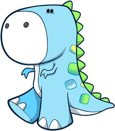 Tyrannosaurus Dinosaur Vector Illustration Ilustração
