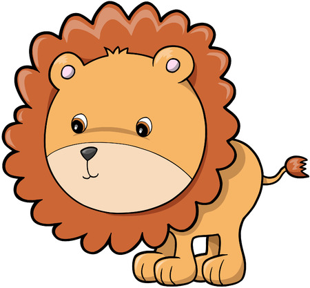 plains: Lion Vector Illustration Illustration