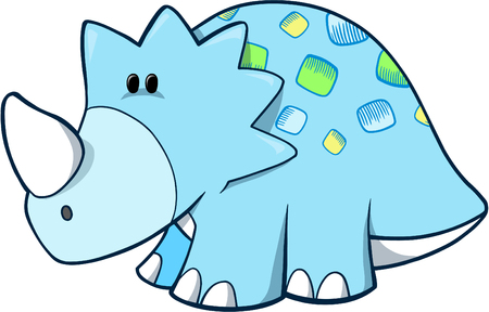 Triceratops Dinosaur Vector Illustration Vector