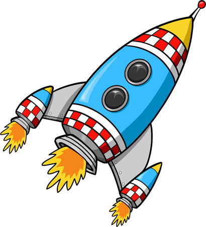 outerspace: Rocket ilustraci�n vectorial